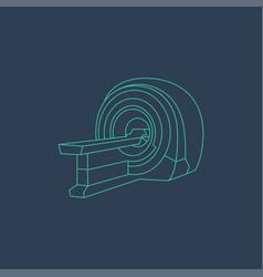 Mri machine icon magnetic resonance imaging symbol vector