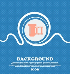 negative films icon symbol Blue and white abstract vector image