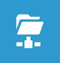 Net folder icon white on the blue background vector