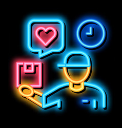 Order fast delivery neon glow icon vector