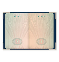 passport pages for tourist visa identification vector image