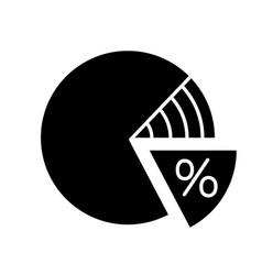 percentage pie chart glyph icon vector image