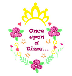 Poster once upon a time vector