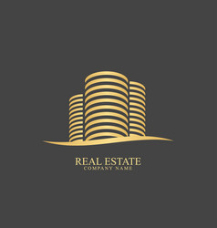 real estate designlogo templateclean vector image