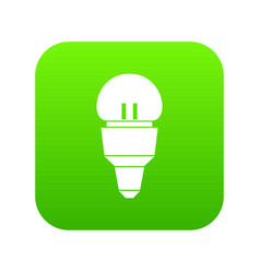 Reflector bulb icon digital green vector