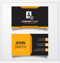 Remove id card icon business card template vector