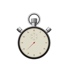 Retro vintage stopwatch isolated vector