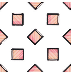 seamless pattern of sketch set makeup products vector image