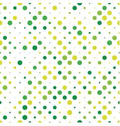 Seamless polka dot pattern green dots in random vector
