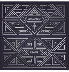 set abstract art deco frames linear vector image