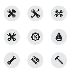 Set of 9 editable mechanic icons includes symbols vector