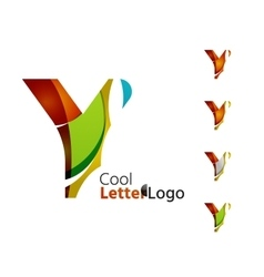 Set of abstract y letter company logos business vector image altavistaventures Image collections