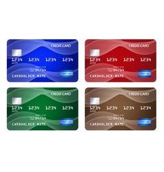 Set of credit cards vector