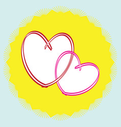 Single icon with hearts vector