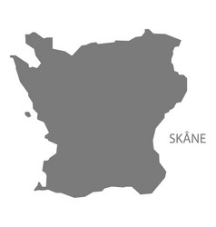Skane sweden map grey vector