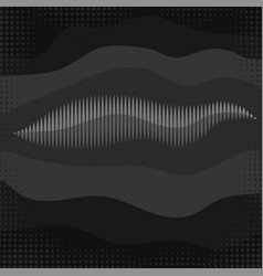 sound wave icon screen equalizer musical vector image