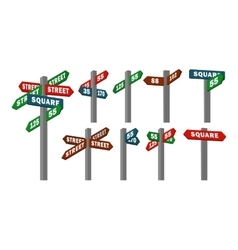 street signs arrows vector image