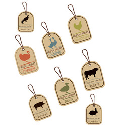 String tags meat labels vector