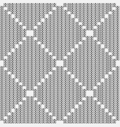 stylish black and white knitted seamless pattern vector image