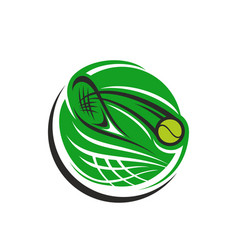 tennis game icon vector image