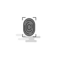 Thumb impression web icon flat line filled gray vector