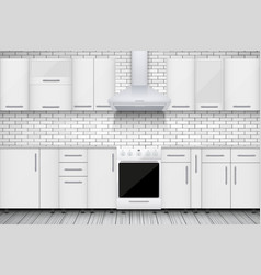 typical white kitchen vector image
