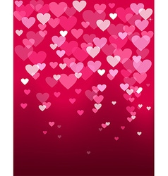 valentines day heart shape bokeh light love card vector image