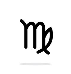 Virgo zodiac icon on white background vector image