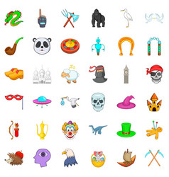 Voodoo icons set isometric style vector