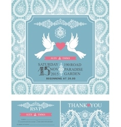 Wedding invitationsWinter paisley pattern vector