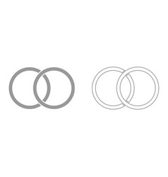 wedding rings it is black icon vector image