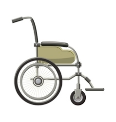 Wheelchair icon in cartoon style vector image