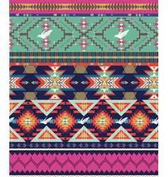 Aztecs seamless pattern with birds vector