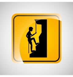 climbing person sign sport extreme design vector image