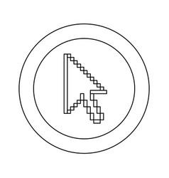 figure symbol pixel cursor icon vector image vector image