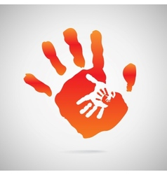hand color vector image