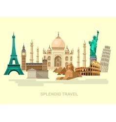 High quality detailed World landmarks vector image vector image
