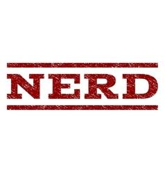 Nerd Watermark Stamp vector image vector image