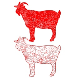 Red goats vector image