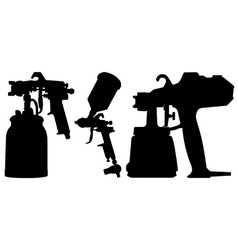 Spray guns vector image