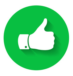 thumb up symbol human hand icon sign of like vector image