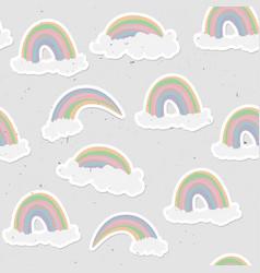 Cute rainbow seamless pattern sweet rainbow and vector