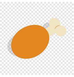 ham isometric icon vector image vector image
