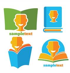 happy reading vector image vector image