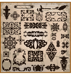 ornamental pattern with brown border vector image