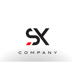 sx logo letter design vector image