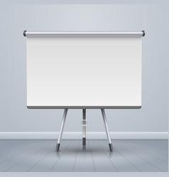 whiteboard projector presentation screen vector image vector image
