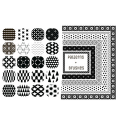 20 geometric patterns and 6 pattern brushes vector