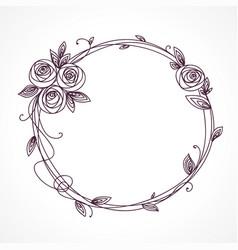 abstract line elegant floral frame vector image vector image