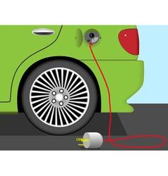 Electric car concept vector image vector image